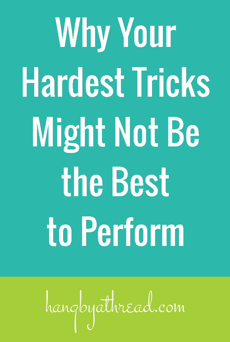 Why cramming all of your hardest tricks into a routine is probably a bad idea